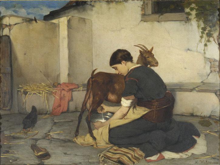 leche cabra cuadro